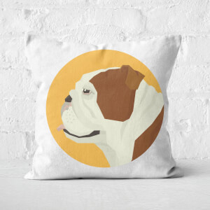 English Bulldog Square Cushion