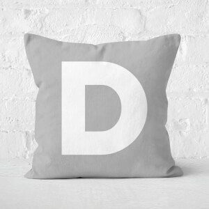 Letter D Square Cushion
