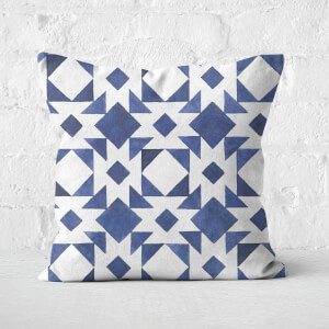 Watercolour Tile Pattern Square Cushion