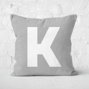 Letter K Square Cushion