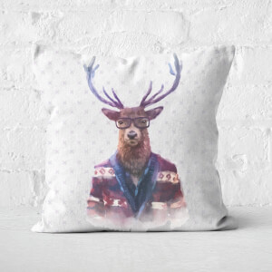 Hipster Deer Square Cushion