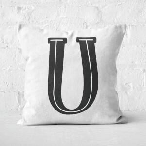 Handwritten U Square Cushion