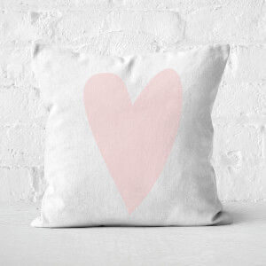 Light Pink Heart Square Cushion