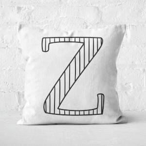 Handwritten Z Square Cushion