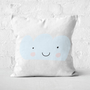 Light Blue Cloud Square Cushion