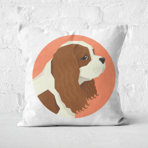 King Charles Spaniel Square Cushion