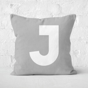 Letter J Square Cushion