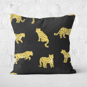 Cheetah Dark Square Cushion
