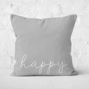 Happy Square Cushion
