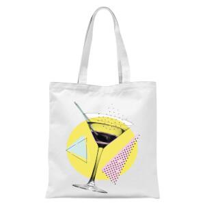 Martini Tote Bag - White