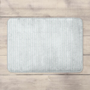 Grid Pattern Bath Mat