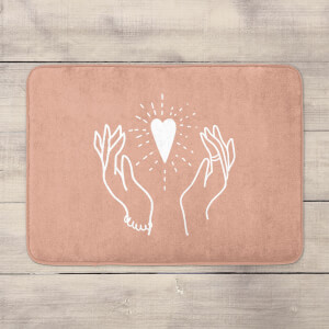 Hands And Heart Bath Mat