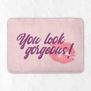 You Look Gorgeous! Kiss Bath Mat