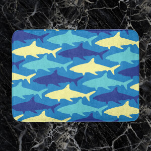 Shark Pattern Bath Mat