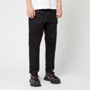 White Mountaineering Men's Stretched Double Pockets Tapered Pants - Black