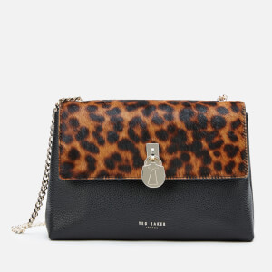 Ted Baker Women's Canann Leopard Padlock Cross Body Bag - Black