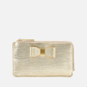 Ted Baker Women's Blue Bow Detail Card Holder - Gold