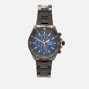 BOSS Hugo Boss Men's Ocean Edition Metal Strap Watch - Rouge Black