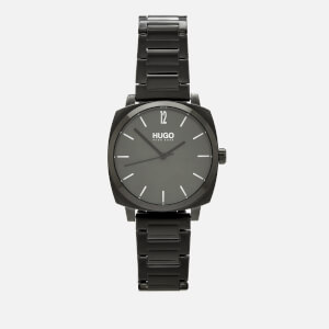 HUGO Men's Own Metal Strap Watch - Rou Green