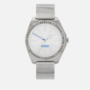 HUGO Men's Act Mesh Strap Watch - Silver