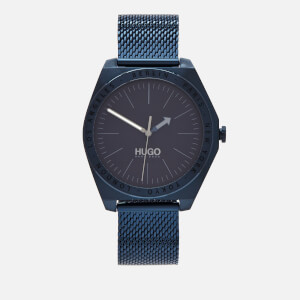 HUGO Men's Act Mesh Strap Watch - Blue