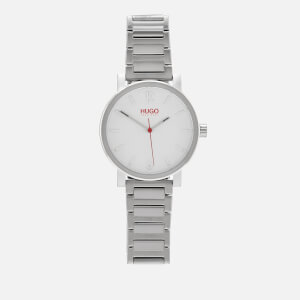 HUGO Men's Rase Metal Strap Watch - Silver