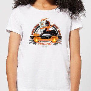 Marvel Ghost Rider Robbie Reyes Racing Women's T-Shirt - White