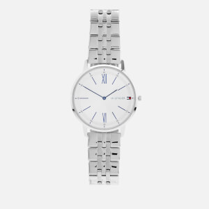Tommy Hilfiger Men's Cooper Metal Strap Watch - Rou White