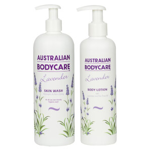 Australian Bodycare Lavender Skin Wash 500ml and Lavender Body Lotion 250ml Bundle