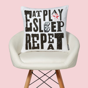 Monopoly Eat Sleep Play Repeat Square Cushion