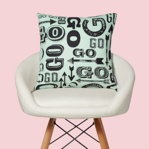 Monopoly Go! Letterpress Square Cushion