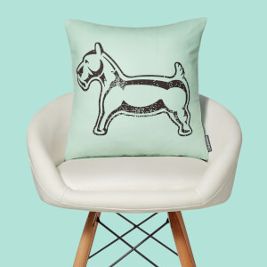 Monopoly Dog Letterpress Square Cushion