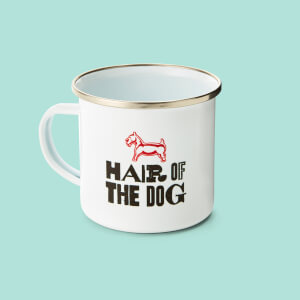 Monopoly Hair Of The Dog Enamel Mug White