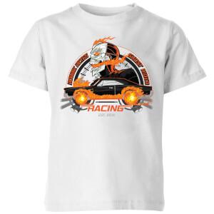 T-Shirt Marvel Ghost Rider Robbie Reyes Racing - Bianco - Bambini