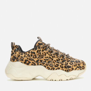 Skechers Women's D'Lites 3.0 Jungle Fashion Trainers - Leopard