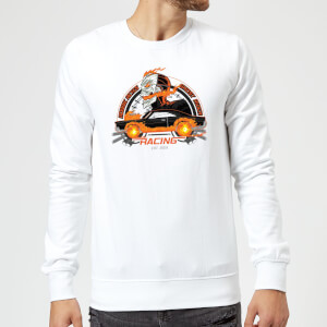 Marvel Ghost Rider Robbie Reyes Racing Sweatshirt - White