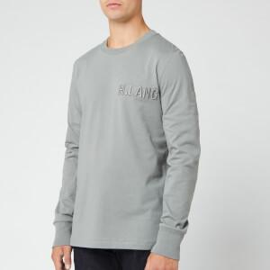 Helmut Lang Men's Rasied Embroidery Long Sleeve T-Shirt - Pebble