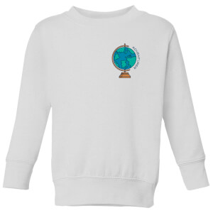 Globe Adventurer Pocket Print Kids' Sweatshirt - White