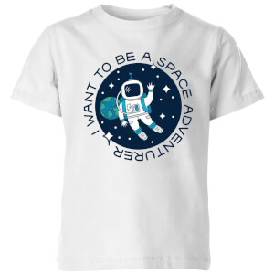 I Want To Be A Space Adventurer Kids' T-Shirt - White