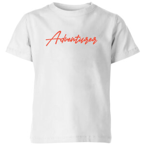 Adventurer Script Kids' T-Shirt - White