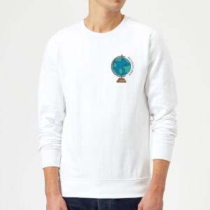Globe Adventurer Pocket Print Sweatshirt - White