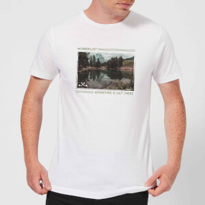 Forest Photo Scene Wonderlust Adventure Is Out There Men's T-Shirt - White