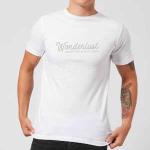 Wonderlust Adventure Is Out There Text Men's T-Shirt - White