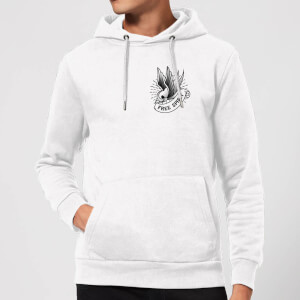 Swallow Free Spirit Pocket Print Hoodie - White