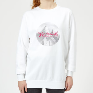 Mountain Wonderlust Adventure Is Out There Women's Sweatshirt - White