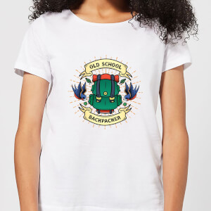 Vintage Old School Backpacker Women's T-Shirt - White