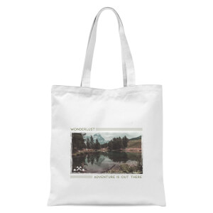 Forest Photo Scene Wonderlust Adventure Is Out There Tote Bag - White