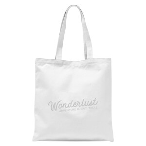 Wonderlust Adventure Is Out There Text Tote Bag - White