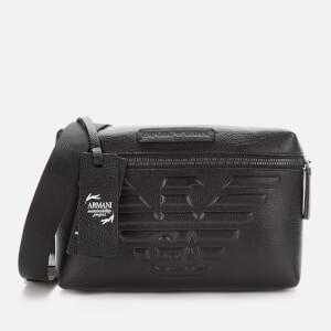 Emporio Armani Men's Leather Bum Bag - Black
