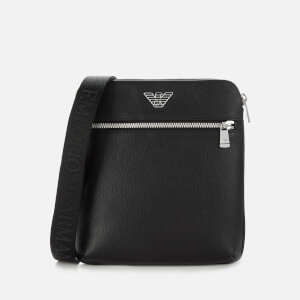 Emporio Armani Men's Leather Cross Body Bag - Black